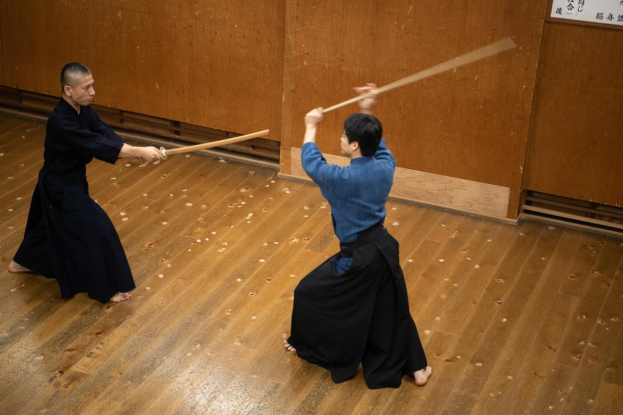 神道夢想流杖術表演武